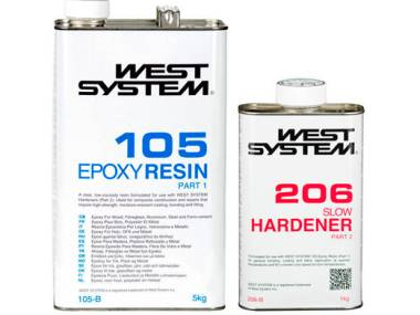 Kit Resina Epoxi West System 1.2kg Catalizador Lento Otros