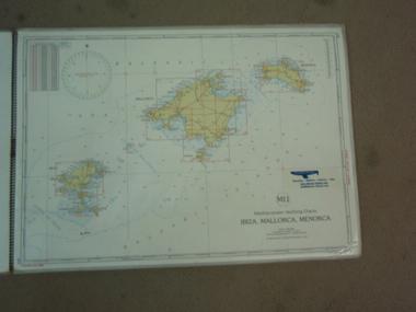 LOTE CARTAS NAUTICAS BALEARES PLASTIFICADO Navegación