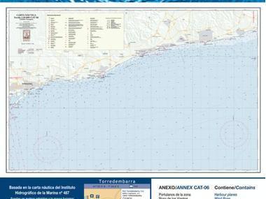 Carta Nautica Cubelles-Tarragona Navegación