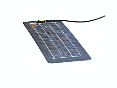Cargador de batería solar, 18 Wp, 72 Wh/d, 12 V, 620x250x2 mm, 1,65 kg. Electricidad