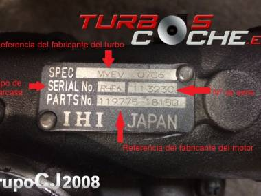 Turbo NUEVO original IHI ref. MYDW (119574-18020) para motor marino Yanmar tipo 6LYA-STE. Otros