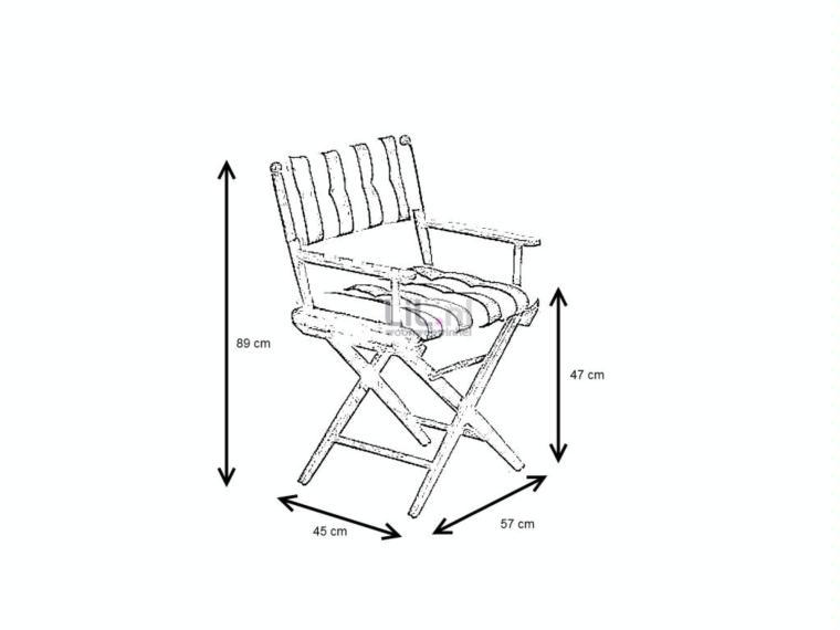 27122 silla director de teka herrajes lat n de arc for Altura silla