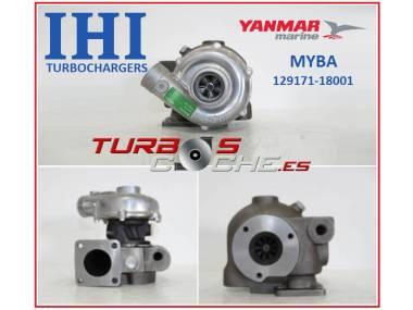 Turbo NUEVO original IHI ref. MYBA (129171-18001) para barco motor  marino Yanmar 3JH2 y equivalentes Otros
