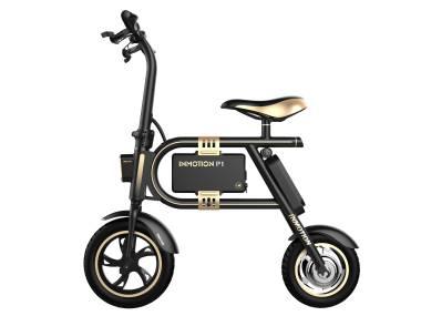 Bicicleta eléctrica Inmotion P1F negra y dorada Equipamiento de puertos