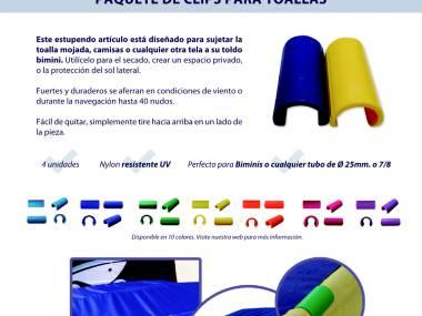 Eacy Clips toallas para tubo de 22 a 30mm Velas/Toldos
