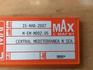 Carta C-MAP MAX NT Parte central del Mediterráneo (2007) Electrónica