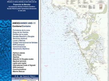 Carta Nautica Conil-Cadiz-Rota Navegación
