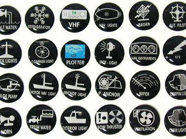 Etiquetas Autoadhesivas para Paneles de Control Lalizas Electricidad