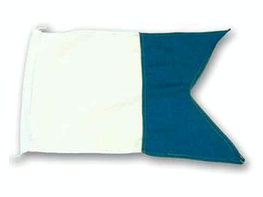 Bandera alfa para embarcación con submarinista Pesca