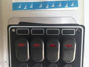Panel 4 interruptores estanco Electrecidade