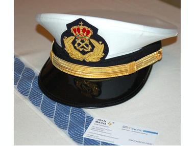 GORRA DE PLATO CAPITÁN DE YATE Mod Armada Moda y complementos