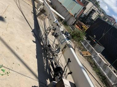 Albero alluminio 23 mt Equipo cubierta
