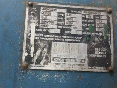 MAN 7L20/27 DIESEL GENERATORE 1000 HP, 1000 rpm, 960 KVA Motores