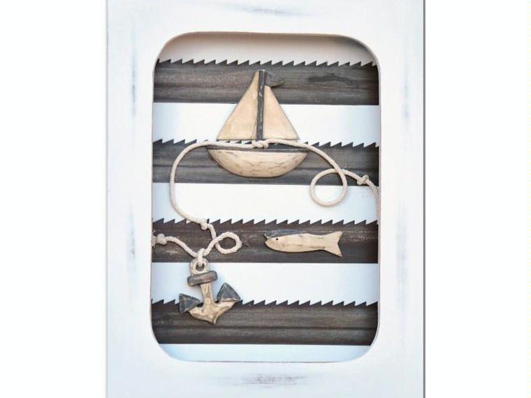 Cuadro ancla y velero decoraci n n utica otros 10155 for Articulos decoracion nautica