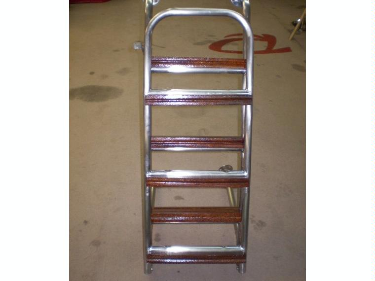 Escalera inox articulada 6 pelda os madera de segunda mano - Escaleras de madera de segunda mano ...