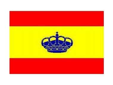 Bandera España con corona 20 x 30 cm Navegación