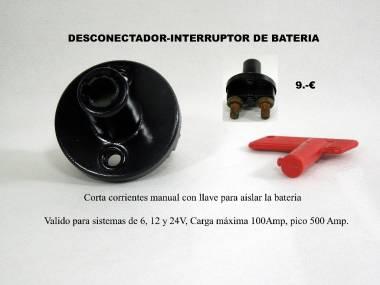 DESCONECTADOR DE BATERIA Electricidad