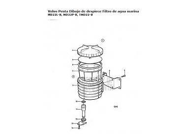 filtro agua salada Volvo Motores