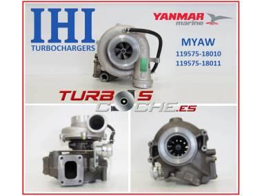 Turbo NUEVO original IHI ref. MYAW (119575-18010) para motor marino Yanmar 6LY2-STE y equivalentes Otros