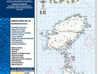 Carta Nautica Ibiza-Formentera Navegación