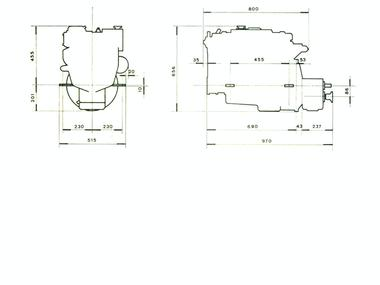 motor diesel intraborda perkins 4108 de 45CV Motores