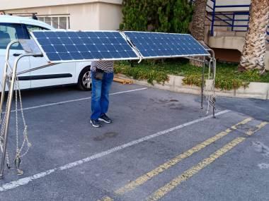 Arco placas solares, ancho 320 cm Equipo cubierta
