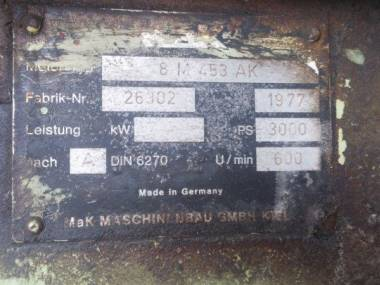 MAK 8M453 Motores