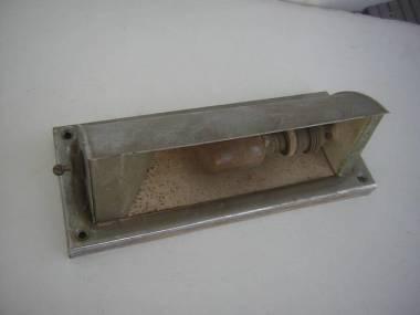 Lámpara vieja de la cama de la pared del latón-cromo, longitud approx 200 mm Electricidad