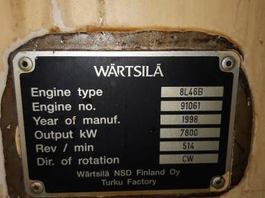 Wartsila 8L46B Motores