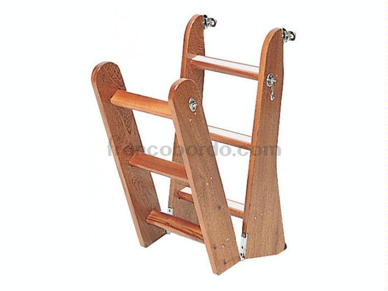 Escalera plegable madera 4 o 6 pelda os otros 55248 cosas de barcos - Escaleras plegables de madera ...