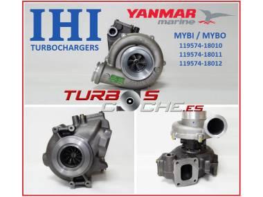 Turbo NUEVO original IHI ref. MYBO / MYBI (119574-18010) para motor marino Yanmar 6LY2, 6LYA y equivalentes. Otros