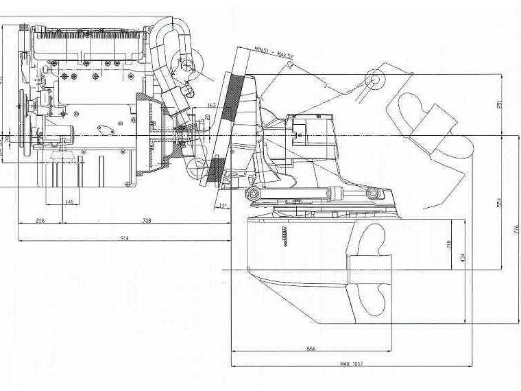 Motor Diesel Lombardini Kohler Ldw 194 Jmt  180 Cv    Cola Mercruiser Bravo 1