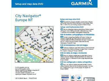 Garmin CD City Navigator NT Europa Electrónica