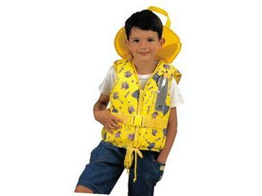 Chaleco Salvavidas Infantil Typhoon 100 N Amarillo Igloo Plastimo Seguridad