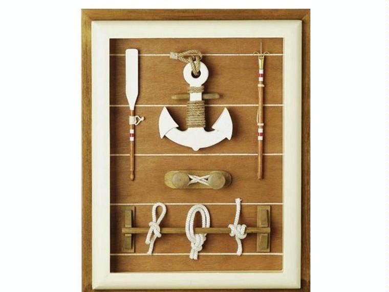 Cuadro ancla y nudos decoraci n n utica otros 10110 for Articulos decoracion nautica