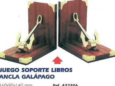 JUEGO SOPORTE LIBROS ANCLA GALÁPAGO 432306 Varios/Decor/Libros