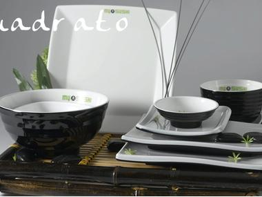 VAJILLA Set de 20 piezas en melamina mod. Quadratto Moda y complementos