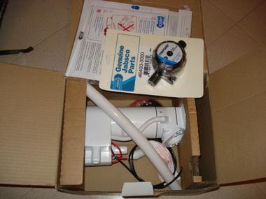 Kit conversion inodoro manual a electrico Jabsco Conforto à bordo