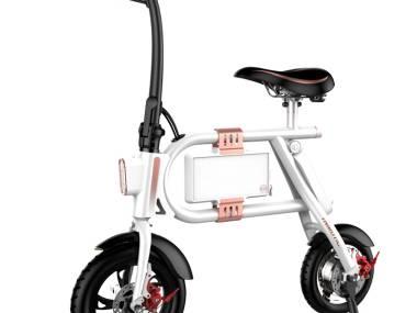 Bicicleta eléctrica Inmotion P1F blanca y rosa Equipamiento de puertos