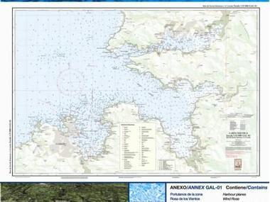 Carta Nautica Ferrol-Betanzos-A Coruña Navegación
