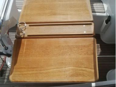 Mesa de teka fija Confort a bordo