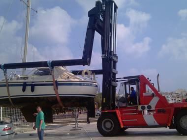 forklift Equipamiento de puertos