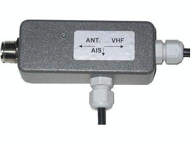 Splitter de VHF para receptores AIS Electrónica