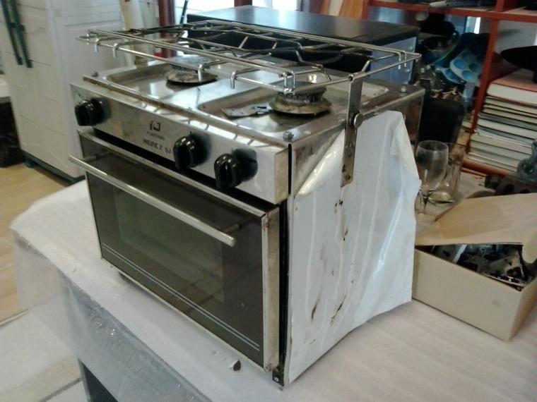 cocina para barco con horno inox de segunda mano 52524