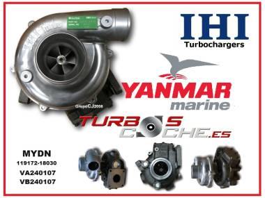 Turbo NUEVO original IHI para motor marino Yanmar tipo 4LHA-HTE (MYDN - 119172-18030) Otros