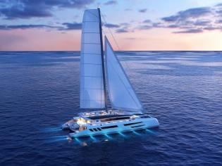 Custom Eco yacht catamaran 110'