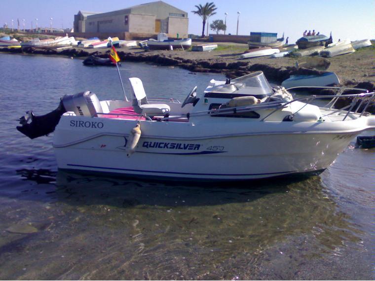 Quicksilver 450 cabine en cn santa pola barcos a motor for Cabine del fiume bandera