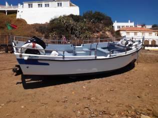 barco de fibra tipo bote