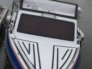 Barco semi cabinado com motor Honda 50 CV (4 tempo