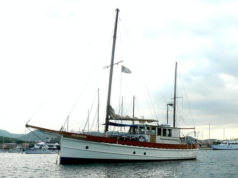 Moto velero de época